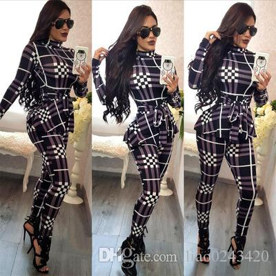 6cf43c8a7e6 Free Ship Women Fashion Print Turtle Neck Jumpsuit Romper Long ...