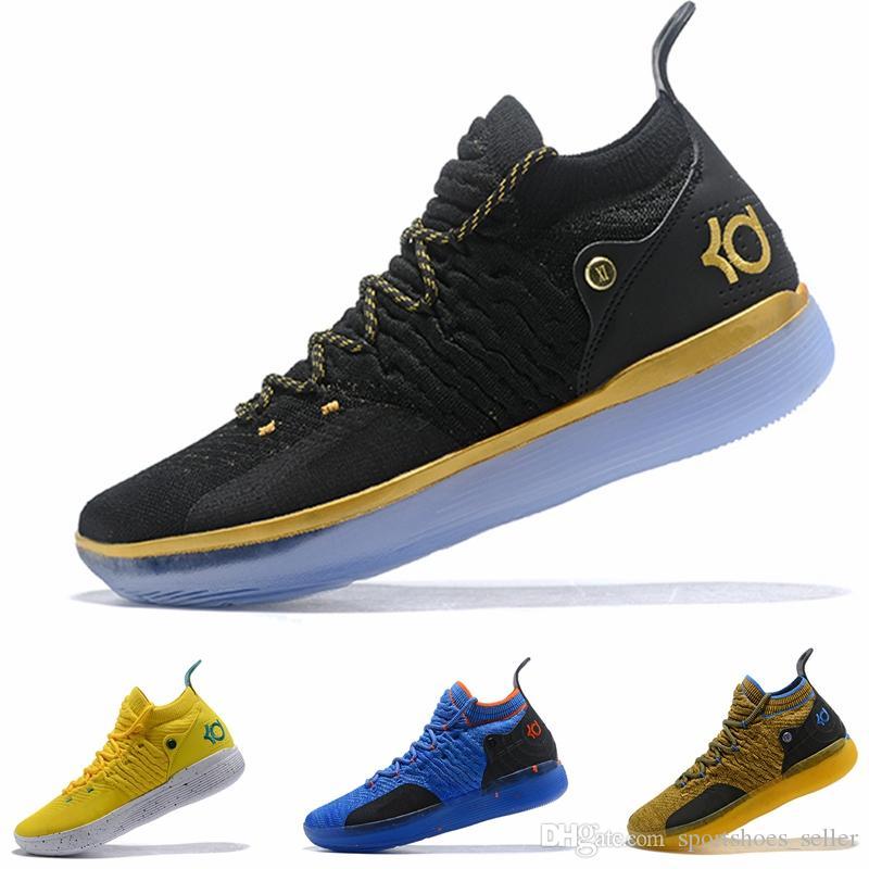 the best attitude 3a5fc 7c73d Compre Nuevo Kd 11 Zapatillas De Baloncesto Para Hombre Negro Blanco Eybl  Still Emoji Twilight Pulse Kevin Durant 11s XI Chaussure Basket Ball  Calzado ...