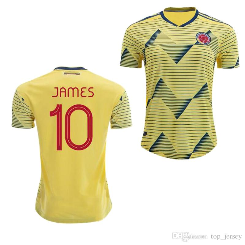 promo code c2c75 ddcfb Colombia JAMES home away FALCAO soccer Jersey 19 20 CUADRAD AGUILAR GUARIN  C.SANCHEZ Colombia national America Cup football shirts 2019