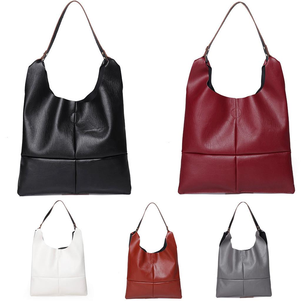 987e7f5d71a7 Women Bags 2019 New Fashion Women Artificial Leather Hasp Solid Color Tote  Shoulder Bag Hand Bag High Quality Shoulder Bag
