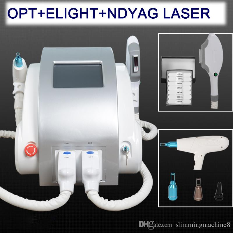 Big promotion IPL hair removal machine elight skin rejuvenation permanent hair removal nd yag tattoo removal beauty salon equipment