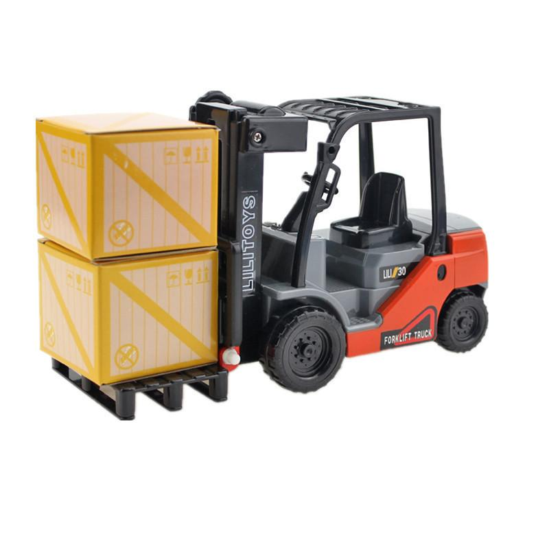 Small Internal Combustion Lifting Forklift Truck Car Model Toys For Children Gift Funny Kids Operational Capacity Decoration J190525