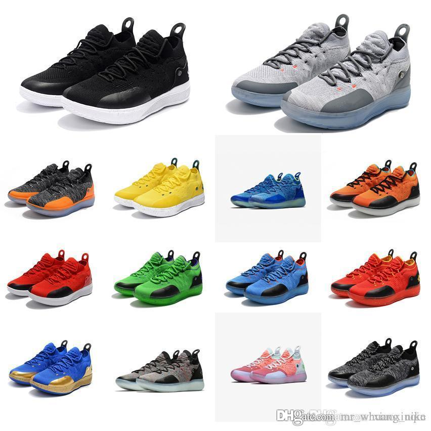 on sale ad559 3398c 2019 Cheap Men KD 11 Basketball Shoes For Sale Texas Orange Black White Red  Grey New Arrival Kds Kevin Durant Xi Low Cut Sneakers Tennis With Box From  ...