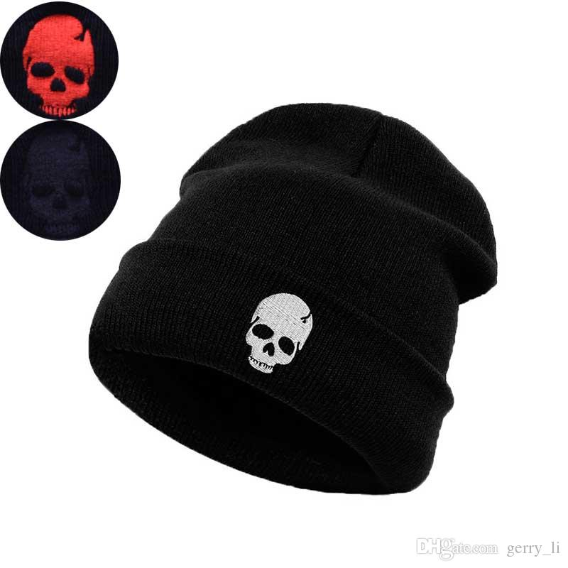 Adult Winter Hat For Women Fashion Embroidery Men Skullies Cap ... 40096547d238