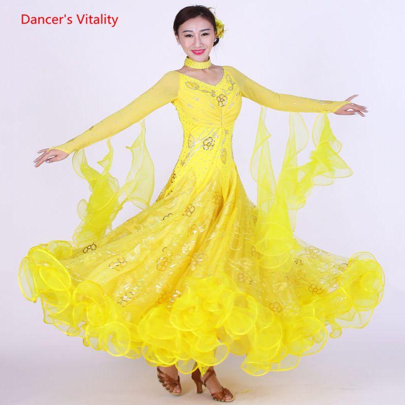 2019 2019 New Ballroom Dance Dress Luxury Diamond Sequins Big Swing Dresses  Ladyu0027S Latin Waltz Tango Dancing Performance Costumes From Stepheen, ...