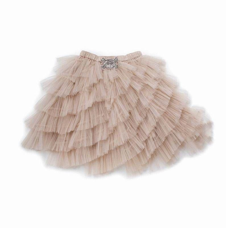 f5452e3478 Compre 2019 Novo Estilo Saias Tutu Para A Menina Carne Rosa Comprimento  Gaze Princesa Bolo Saia Crianças Roupas 0 9 T FT001 De Rongrong2009