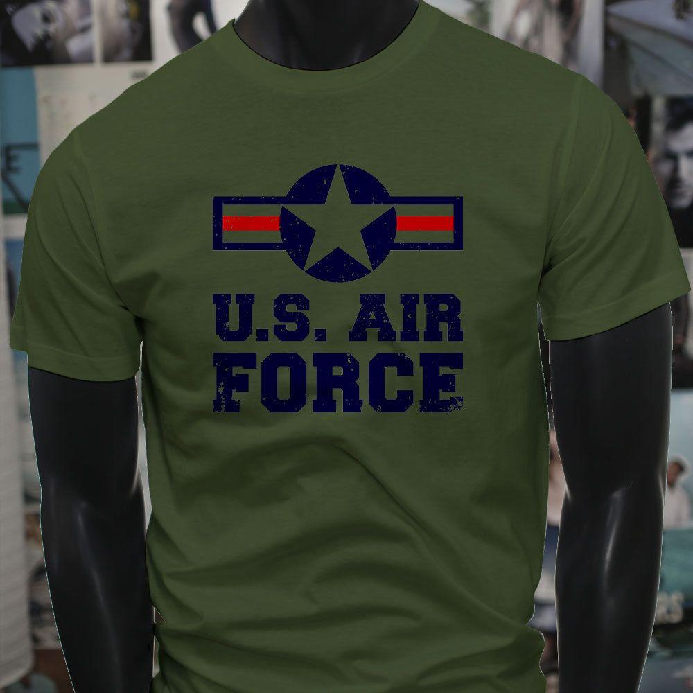 Air Force Usa Proud American Patriot Veteran Mens Military Green T