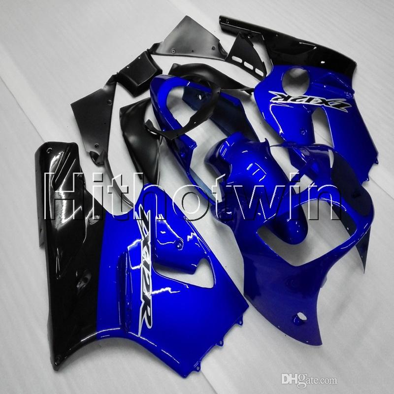 Screws+Gifts Injection mold blue motorcycle cover ABS Fairings For Kawasaki ZX12R 00-01 ZX-12R 2001 2000 Motorcycle Body Kit