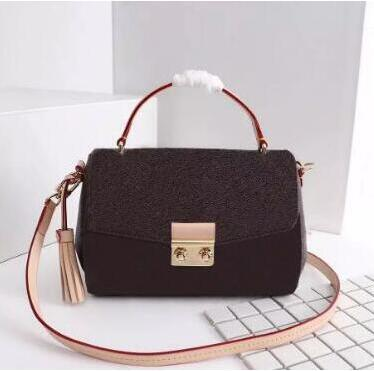 Brand new Top quality women oxidizing genuine Leather tassel handbag MEtis flap purse tote bag