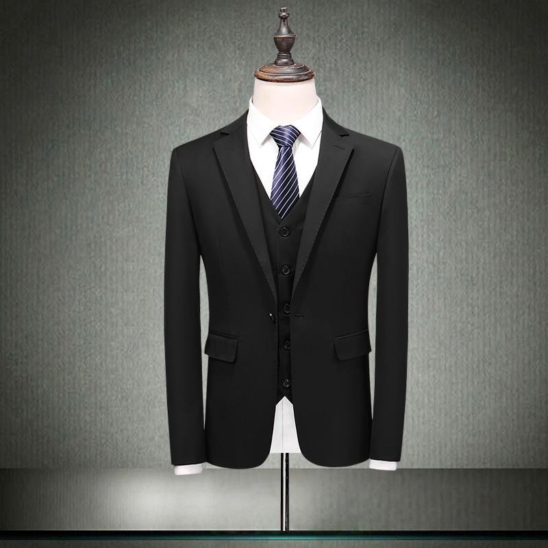 8fca389f9d0 Compre 2019nuevo Llegada Chaqueta De Los Pantalones Chaleco De Moda Traje  De Los Hombres Vestido Formal Joven Apuesto Padrino De Boda Boda De Un Solo  Pecho ...