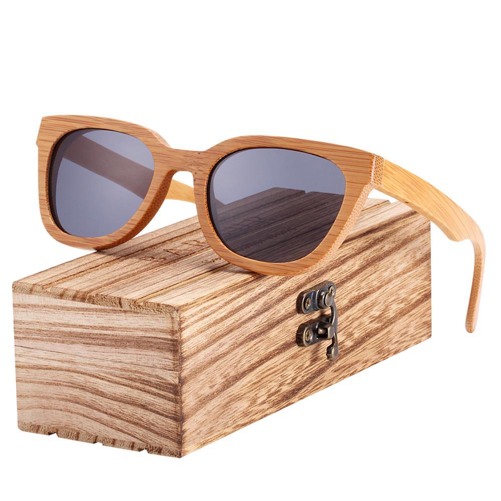 717498f4755 BARCUR New Bamboo Sun Glasses Men Wood Sunglasses Women Eyewear ...