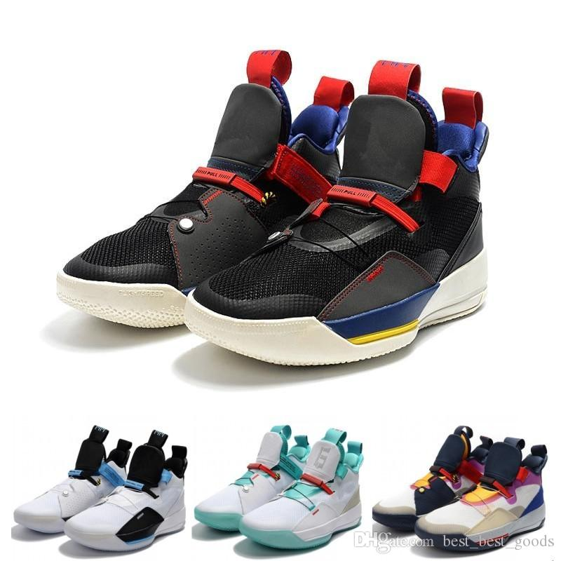 huge discount 46b2f e1ac9 2019 2019 New Zoom 33 33s Jump Man White Green Black Men Sports Basketball  Shoes For Mens Designer Sneaker Trainers Size 7 12 From Best best goods, ...