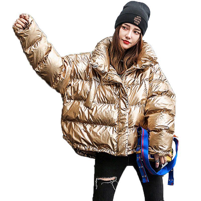 Купить Оптом Femme Зимняя Куртка 20019 Новая Мода Свободные Парка Женщины  Пальто Короткая Куртка Толстые Теплые Femme Женщины Хлопок Верхняя Одежда  174 ... dbfc40c36ef0e