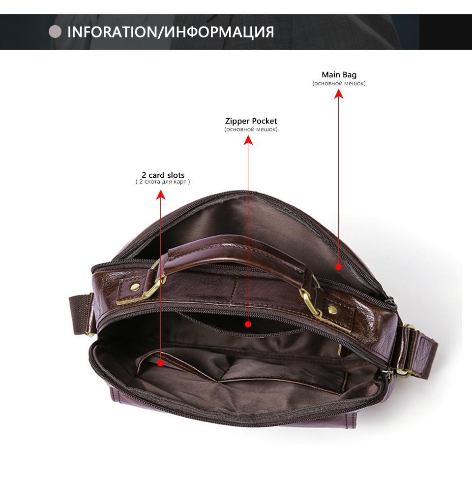 MVA Messenger Bag Men Genuine Leather Shoulder Crossbody Bags for Mens Bags Male Fashion Leather Handbags Zipper ipad Totes 8320