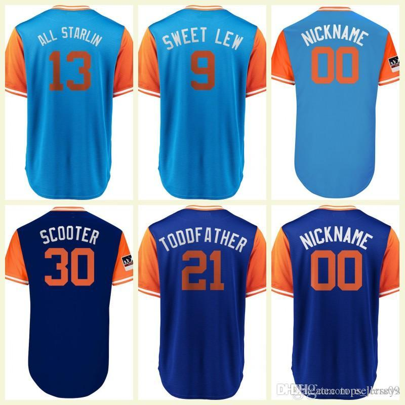 sports shoes 10732 4f48f Players Weekend Custom Mets Jersey Todd Frazier Michael Conforto Miami  Starlin Castro Lewis Brinson Flex Base Cool Base Baseball Jersey