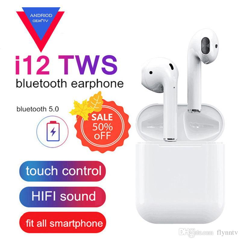 New i12 TWS Touch Wireless Earbuds Bluetooth Headphones Double V5 0 True  Stereo Sport Earphones VS i9S i11 i10 tws Binaural Call Earphones