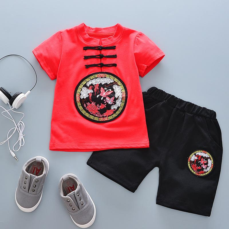 7eea5d56d 2019 Good Quality Baby Boys Clothing Set Chinese Style Summer Clothes Child  Clothing Outside Wear Kids Boys Sports Suit T Shirt +Shorts From  Victorys05, ...