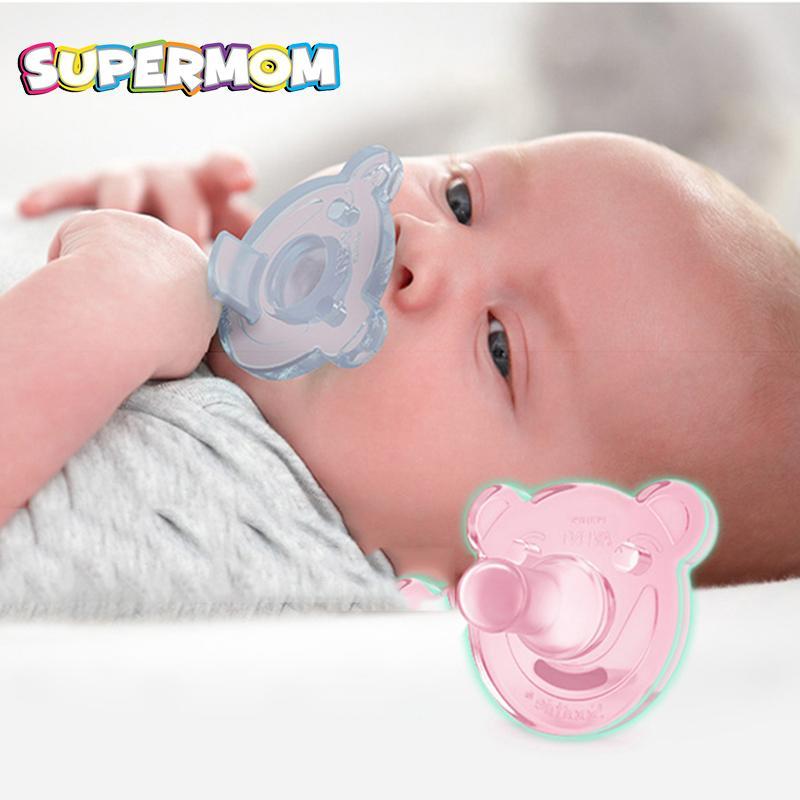 Acquista Ciuccio In Silicone Ciuccio In Silicone Ciuccio Succhietto  Simpatico Orso Stampa Infant Soft BPA Free Holder Facile Da Pulire Neonato  Pacify ... 4c0614b004e4