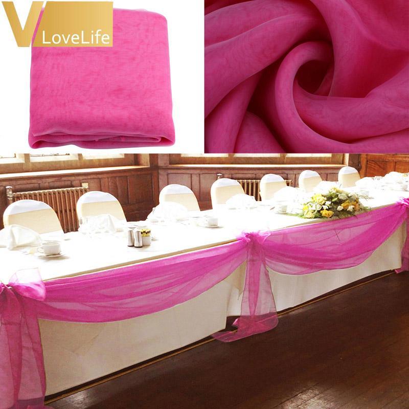 10 M x 1.4 M Top Swags Swer Organza Swag Tecido De Casamento Festa Do Partido Bow Decorações DIY