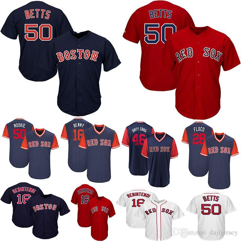 check out c6685 4ce1c Men s Boston Red Mookie Betts jerseys Mookie Sox Andrew Benintendi Cool  Base Little League World Series Player Weekend Team Baseball Jersey