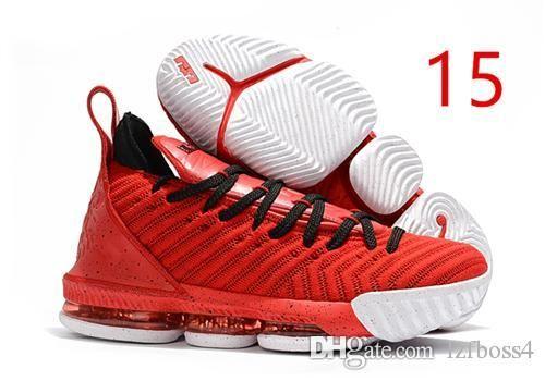 c9b80c88539873 HOT Lebron 16 Basketball Shoes James 16 The Fresh Bred Triple Black White  Mens Shoe 16s Mens Trainers Sports Designer Sneakers ZEBOSS4 Lebron 16s 16s  ...