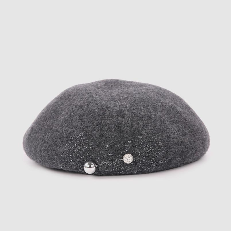 4714565c1f4b3 2019 2019 High Qaulity Spring Winter Cashmere Beret Hats For Women Fashion  Winter Female Lady Berets Cap Bead Rhinestone Pin Decorate From Desertrose