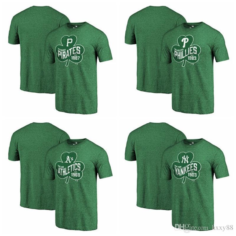 online retailer c4aed 9529a Pittsburgh Pirates Philadelphia Phillies Oakland Athletics New York Yankees  Fanatics Branded St. Patrick s Day Paddy s Pride T-SHIRT