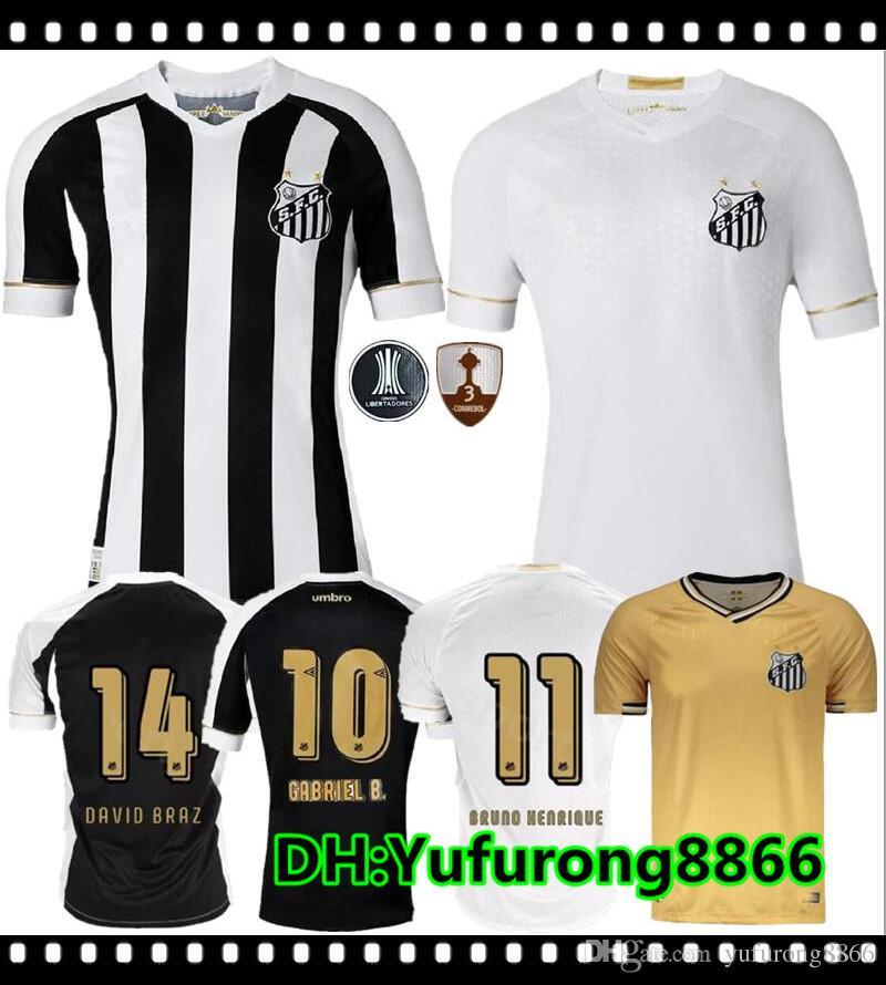 2018 2019 Camiseta De Fútbol Santos FC 18 19 Santos Casa Lejos Gabriel  RODRYGO DODO RENATO SASHA Fútbol Camisetas Camiseta Kit Maillot Por  Yufurong8866 06a042cb96db3