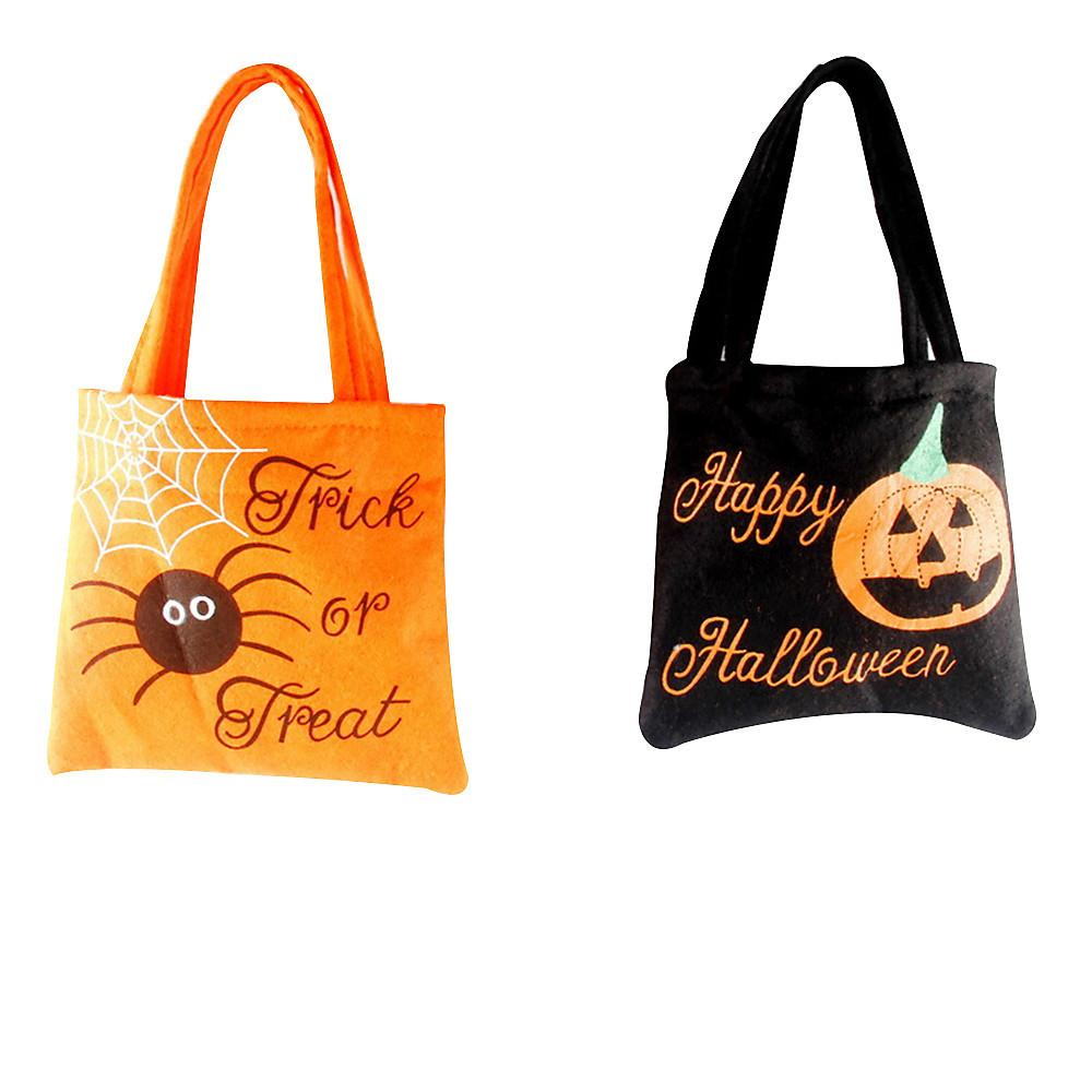 Creative Portable Halloween Pumpkin Witch Sugar Bag Multi-purpose Reusable Children's Party Storage Bag Gift Two Colors #LC
