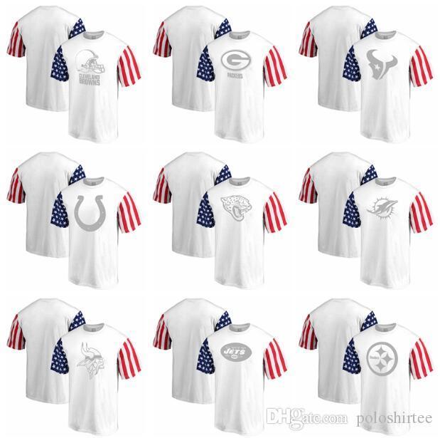 31f14394 Pittsburgh Steelers Cleveland Browns Houston Texans Jaguars Minnesota  Vikings New York Jets Pro Line by Fanatics Stars & Stripes T-Shirt