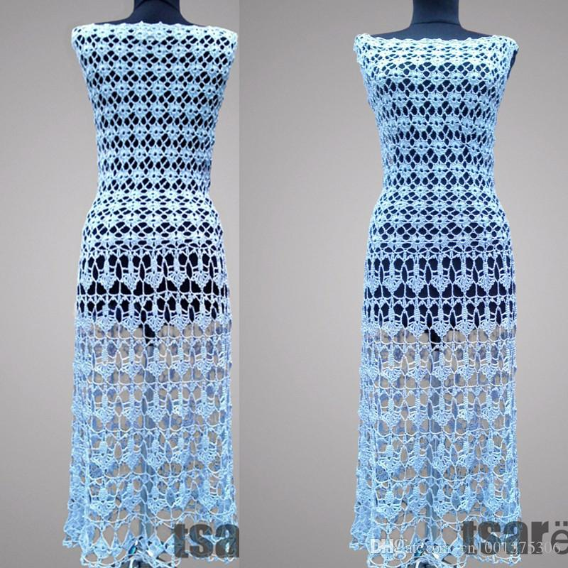841c497c1 2019 Crochet Dress Aquarius. Baby Blue Women Handmade Casual Or Special  Occasion Organic Cotton Crochet Dress. Made To Orderr From Cn1001575306, ...