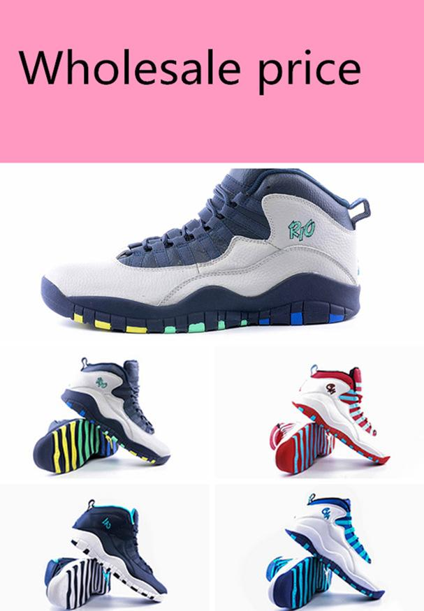 4d4a679dac Wholesale Air Cool Grey Bobcats Chicago Steel Grey Man 10 Rio CHI top  quality men basketball Shoes LOS sports shoes free shipping