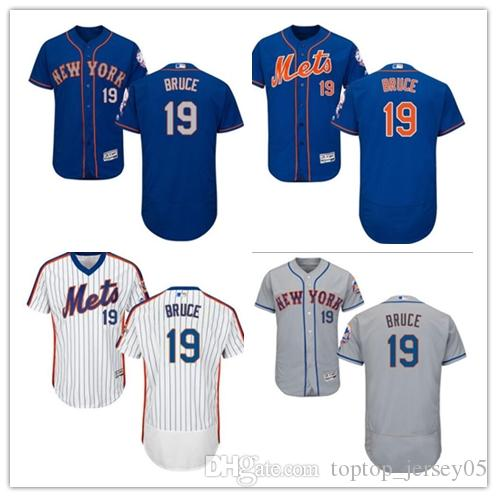 buy popular 50d46 73319 2018 New York Mets Jerseys #19 Jay Bruce Jerseys men#WOMEN#YOUTH#Men s  Baseball Jersey Majestic Stitched Professional sportswear