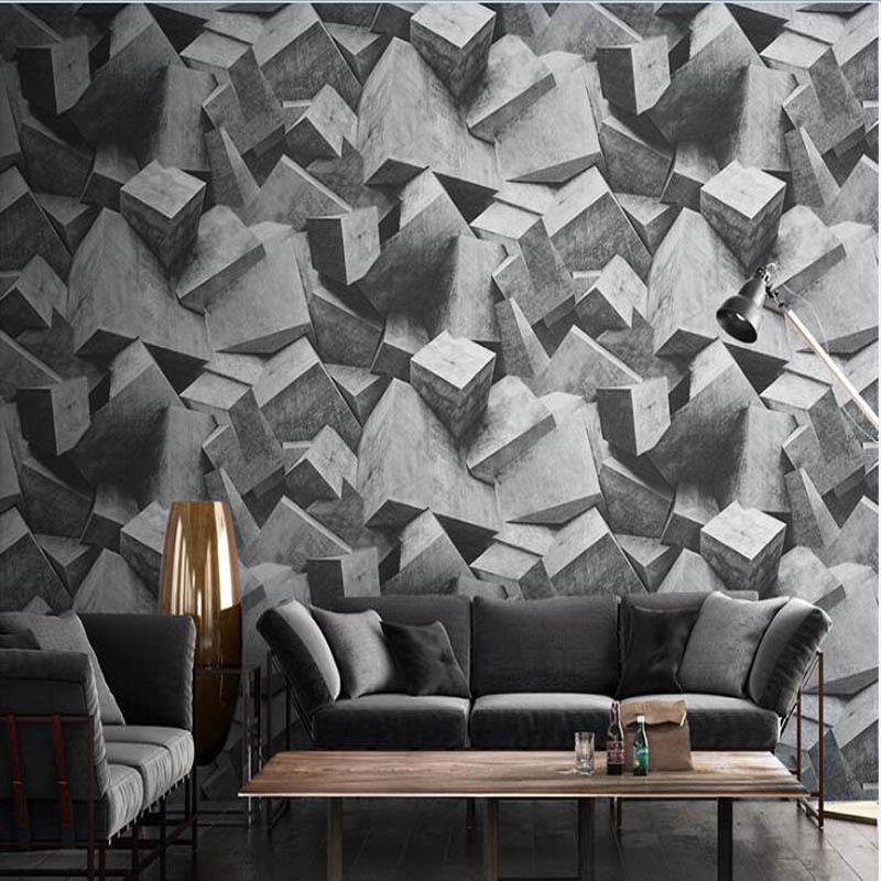 Acheter Nordic Style Vent Industriel 4d Papier Peint Géométrie