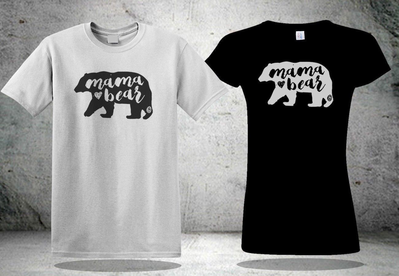 c6fa8dcacc63 New Mama Bear T Shirt Men S White Black White Tee Shirt Classic Quality  High T Shirt T Shir T Sh From Docup