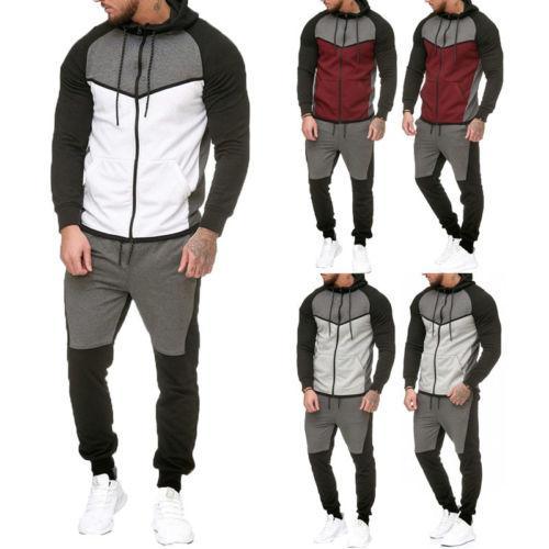 321358553 Compre Hombres Gym Sport TrackSuit Chaqueta Con Capucha Suéter Traje  Conjunto Pantalones Pantalones Jogging US A $39.36 Del Qutecloth |  DHgate.Com