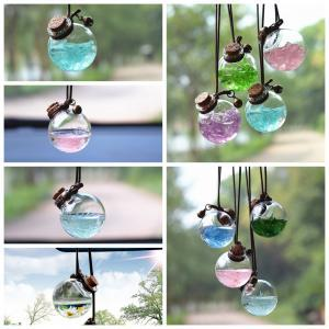 5styles flower perfume Empty bottle glass New car hanging pendant car home decor Perfume bottle Storage DIY mini packing Bottles FFA1475