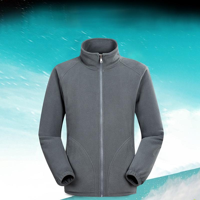 f985e0a7d7ac 2019 Men Ski Outdoor Sport Polar Fleece Jacket Winter Thermal Coats Full  Zip Jacket Camping Hiking Overcoat New From Godefery