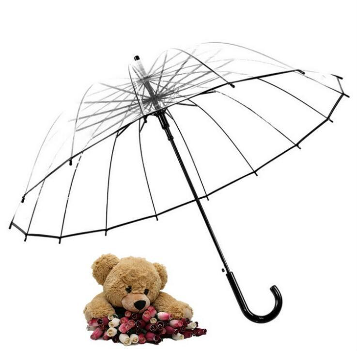 280d15ae1 2019 Durable Transparent Long Handle Women Umbrella Semi Automatic Portable  Size Girls Sunny Rainy Polyester Umbrella Rain Gear From Healthy_living, ...