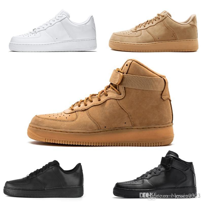 Hot Men 1 Utility Classic Black White Dunk Women Casual Shoes red one Skateboarding High Low Cut Wheat trainers Sports Sneakers size 36 45