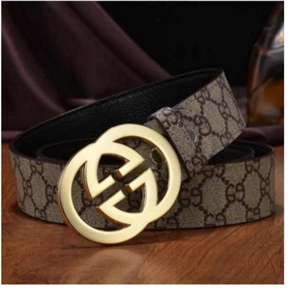 79a326f9e High Quality Men Leather Belt with Smooth Buckle Letters Body Design ...