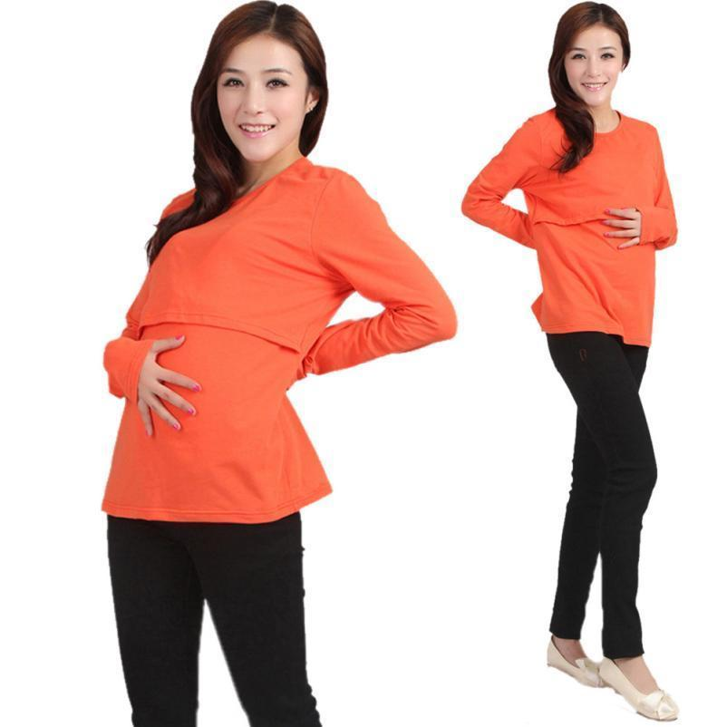 a028285da 2019 Good Quality Pregnant Maternity Clothes Nursing Tops Breastfeeding  Long Sleeve T Shirt Long Sleeves From Nextbest02, $28.71   DHgate.Com