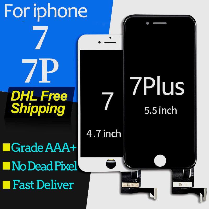 f712fd10fc8 Componentes Para Moviles Para IPhone 7 Plus Pantalla LCD Partes De Repuesto  Pantalla Táctil Conjunto De Digitalizador Pantalla Perfecta Para IPhone 7  ...