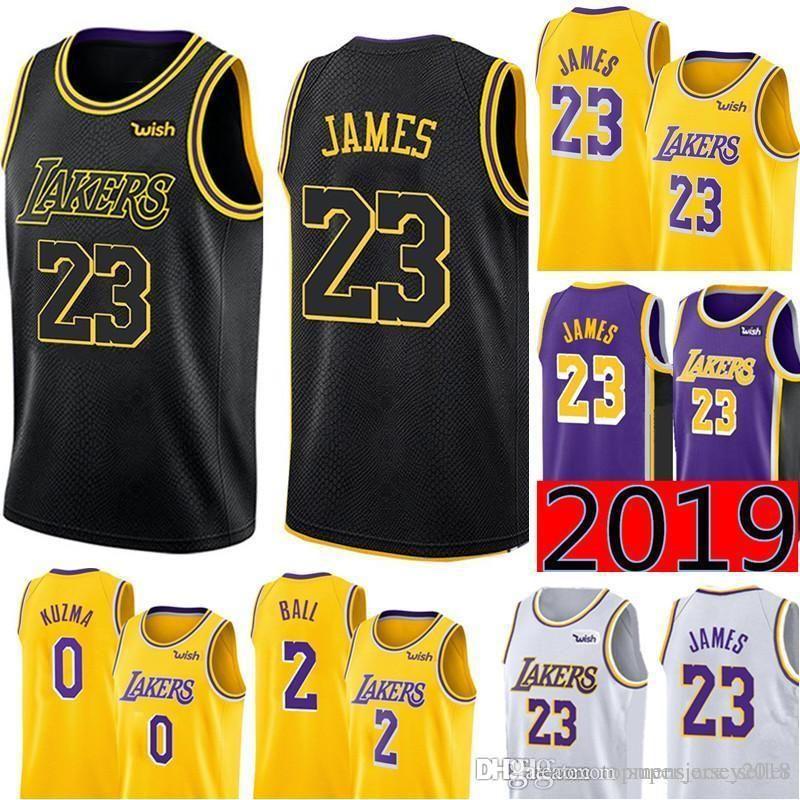 pretty nice 0acc2 859a6 City Black 23 LeBron James Los Angeles James Laker Jersey Mens Swingman  Jersey - Icon Edition Embroidery Basketball Jerseys S-XXL