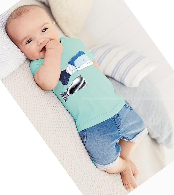 595396906b6e5 2018 New Summer Baby Boys Girls Clothes Infant Suit Cute Short Sleeve T  Shirt Jeans Toddler Clothing Sets Newborn Clothes