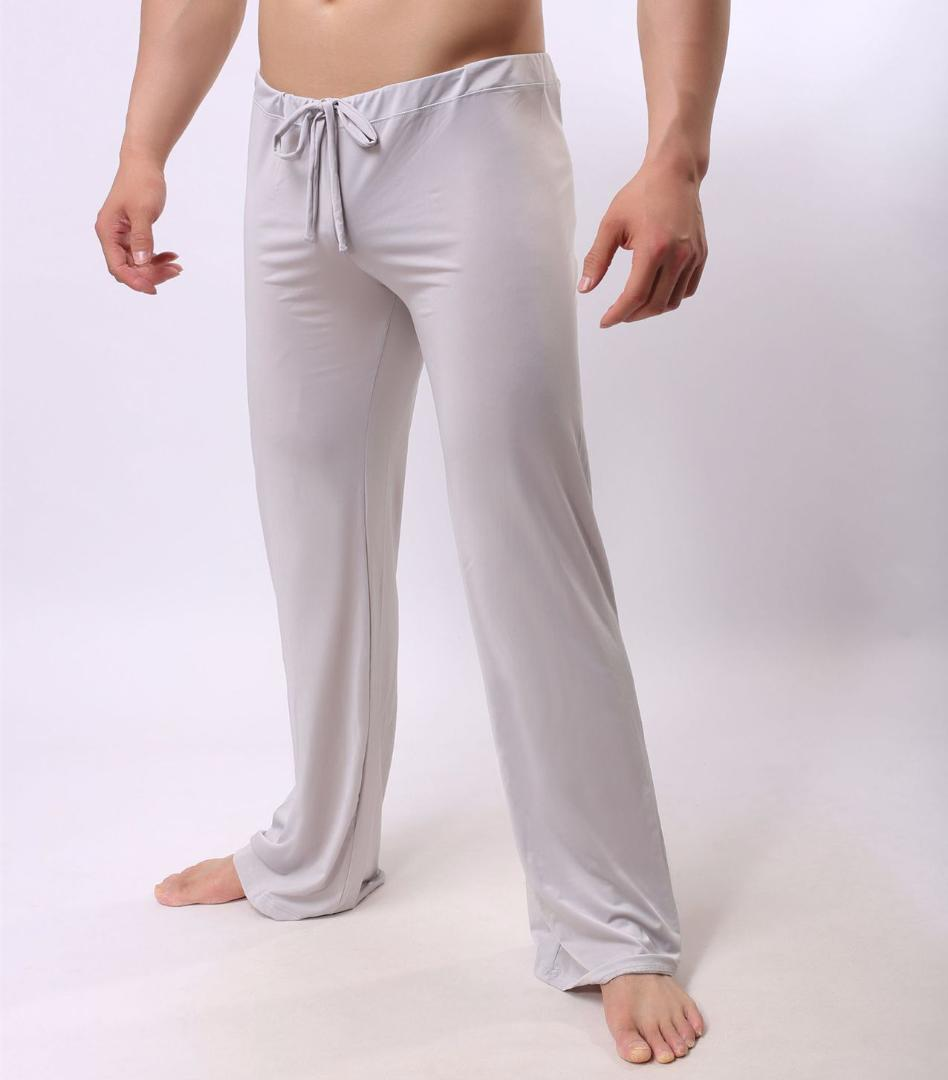 7e0a8aca9b 2019 Sexy Male Sleep Bottoms Lounge Pants Soft Ice Silk Home Clothes Men S  Casual Pants Breathable Homewear Lacing Pyjamas Trousers From Cutelove66