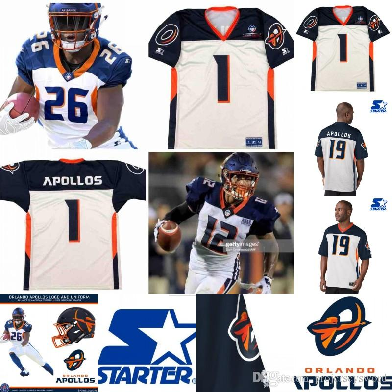 593c68d33ad 2019 Mens Orlando Apollos Jersey 17 Jalin Marshall 25 Akeem Hunt 29 Keith  Reaser 14 Chris Thompson Alliance Of American Football Jerseys From  Projerseysword ...