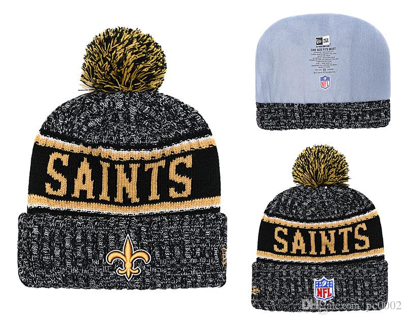buy online 006bf 1ce71 ... era knit hat ce9c1 44fd1  coupon for mens new orleans saints new black  2018 sideline cold weather official sport knit black