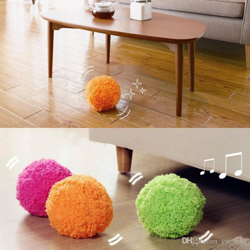 10 CM Multi function Pet Giocattolo Cane Palla Peluche Auto Rolling Ball Mop Piano Spazzare Robot Cleaner Ball Casa Camera cucciolo forniture sui0248