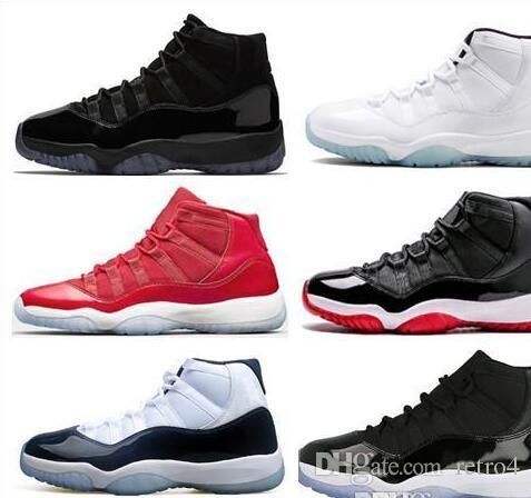 grossiste d5efa 3cd3a New Cheap 11 Basketball Shoes shoe Men Space Jam 11s XI 72 Bred Blue Femme  Athletics Original Sport Sneakers